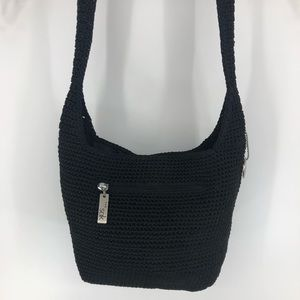 The Sak NWOT black crocheted shoulder bag